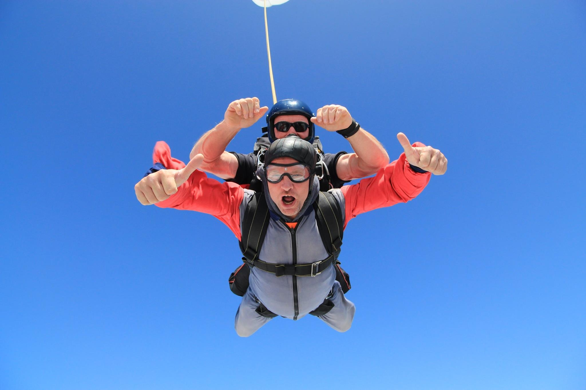Laurence Waylett during skydive 2