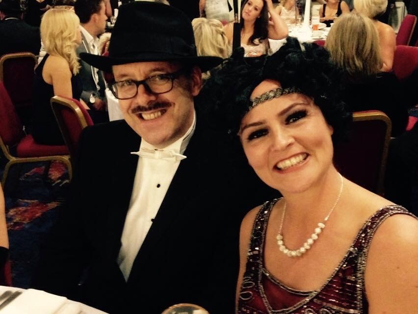 Picture of Angelo and Helen Clarke at 20's themed charity ball