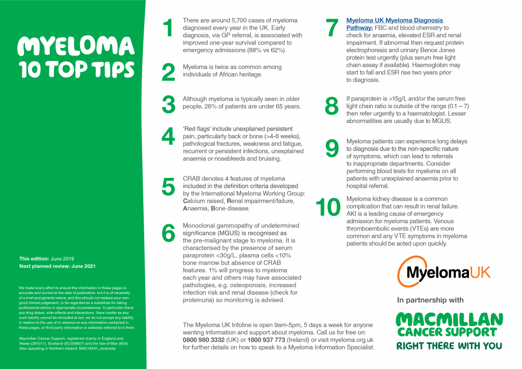 Myeloma 10 top tips