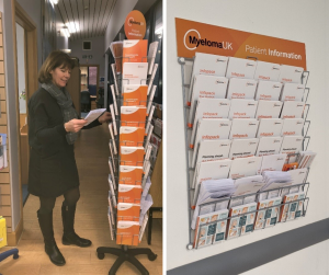 New Myeloma UK patient information dispenser