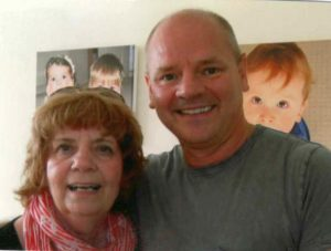 myeloma patient Marcus Plant with mum Brenda in memory Myeloma UK