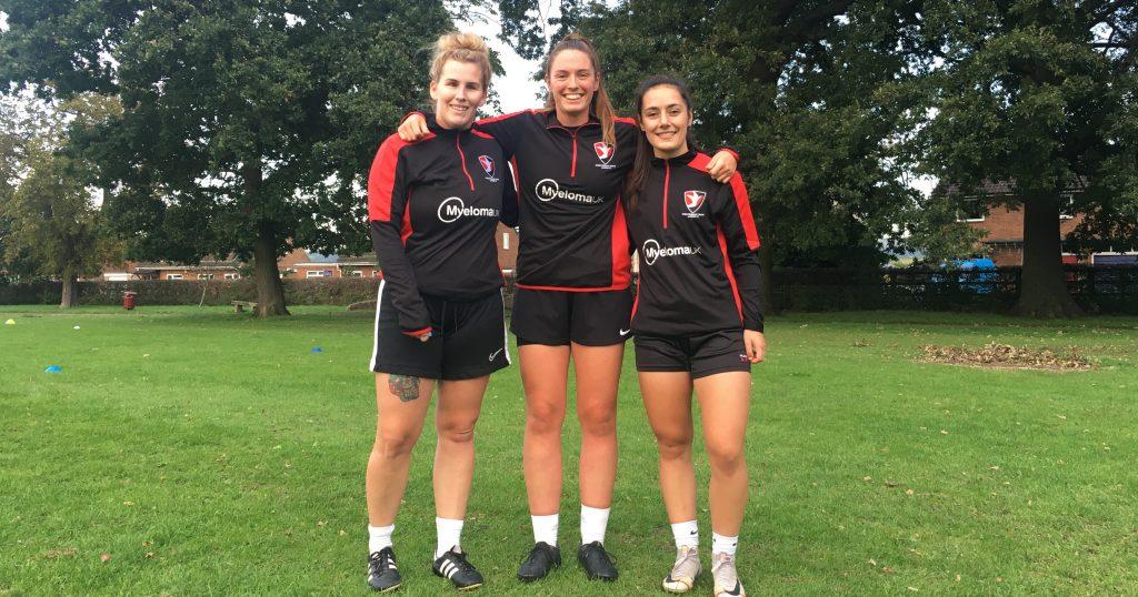 Cheltenham Town Ladies FC -Myeloma UK Tracksuit sponsor